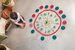 Loose Parts — Mandala Green Cones