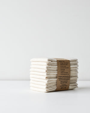 Reusable Cloth Wipes — 10 Pack