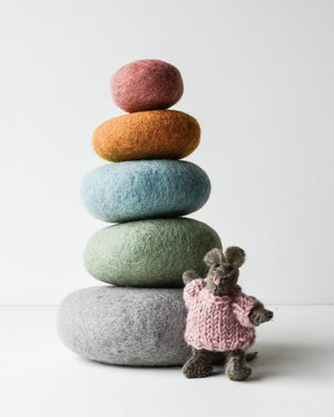 Felt Earth Elemental Stacking Set