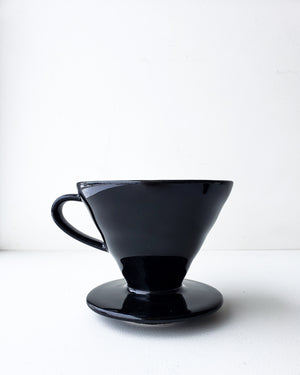Hario Single Cup Pour Over Coffee Maker - V60-02 Black