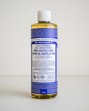 Dr. Bronner's Peppermint Castile Soap — 473ml