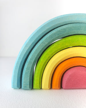 Grimm's Stacking Toy - Pastel Rainbow