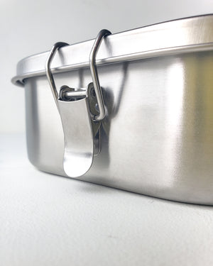 "Stainless Steel Airtight Lunchbox — 7""x5"""
