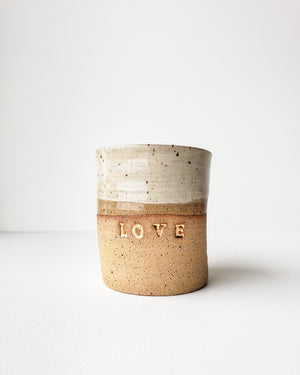 Short Tumbler, Golden Love — Love Pottery