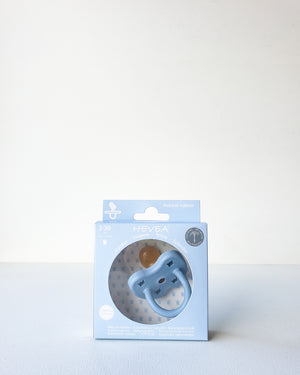 Natural Rubber Pacifier, 3-36m — Sky Blue