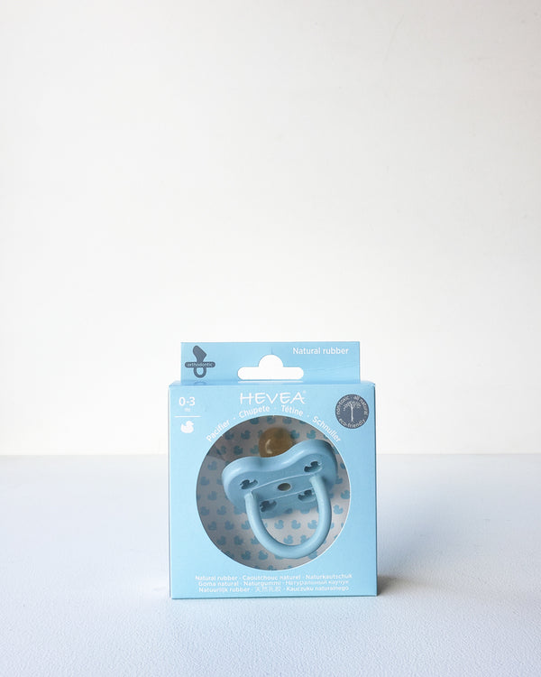 Natural Rubber Pacifier, 0-3m — Baby Blue