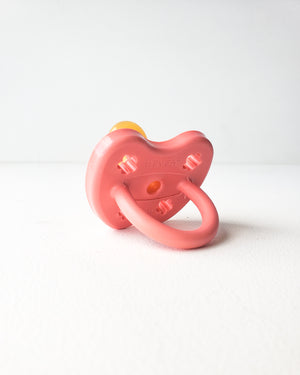 Natural Rubber Pacifier, 3-36m — Coral