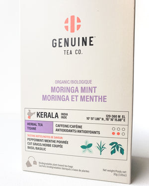 Organic Moringa Mint, Pyramid Tea Bag — Genuine Tea