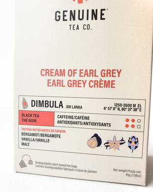 Cream of Earl Grey, Pyramid Tea Bag — Genuine Tea