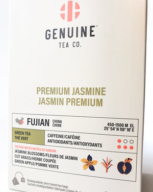 Premium Jasmine, Pyramid Tea Bag — Genuine Tea