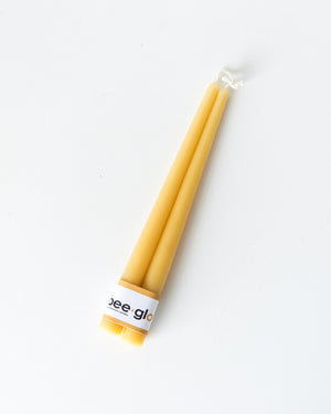 Bee Glo Beeswax Candles - Taper Candles 10""