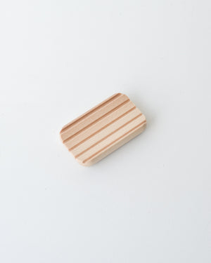Beech Wood Soap Dish with Grooves