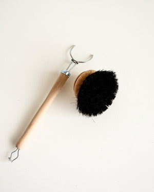 Dish Brush Replacement Head — Black Bristle