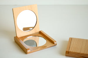 Beechwood Pocket Mirror