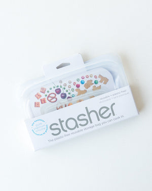 Stasher Reusable Snack Bag - Clear