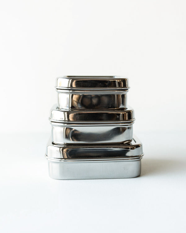 Dalcini Stainless Steel Lunch Containers — 3 Squares