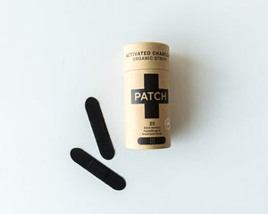 Organic Bamboo Adhesive Strips - Activated Charcoal