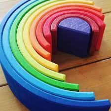 Grimm's Stacking Toy - Sunset Rainbow