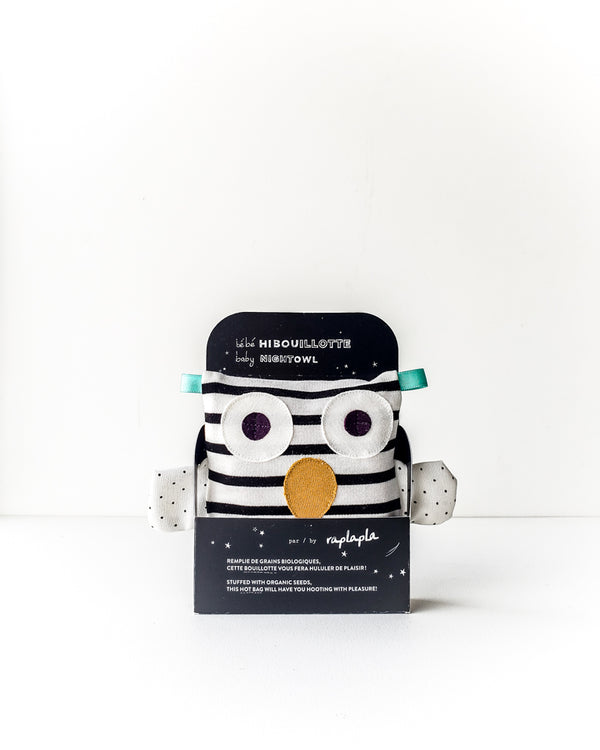 Baby Owl Hot Seed Bag — Stripes