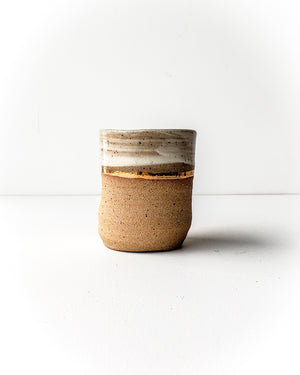 Short Tumbler, Gold Stripe — Love Pottery