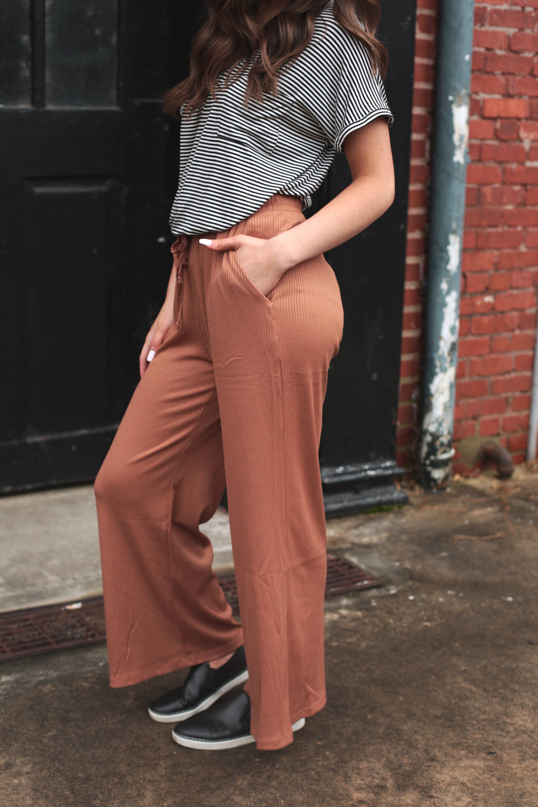 Rust Drawstring Pants