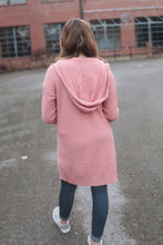 Load image into Gallery viewer, Pink Hooded Duster