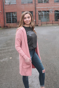 Pink Hooded Duster