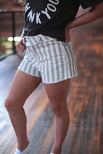 Load image into Gallery viewer, Striped Denim Shorts