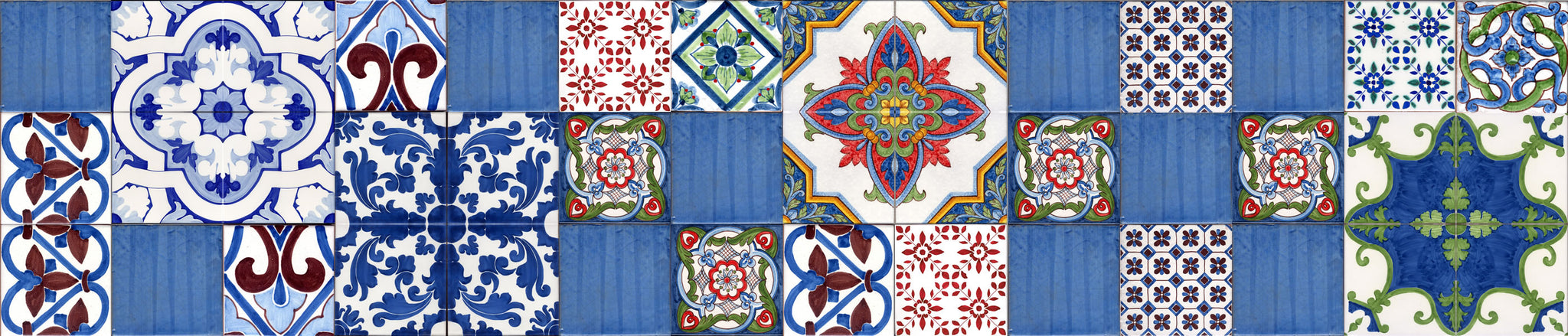Patchwork piastrelle stile Eoliano decorate a mano Caltagirone