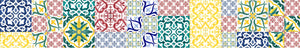 Patchwork piastrelle serie Basic decorate a mano