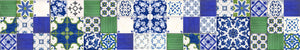 Patchwork piastrelle stile mediterraneo decorate a mano