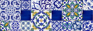 Patchwork di Caltagirone con piastrelle decorate a mano, piastrelle siciliane Made in Italy