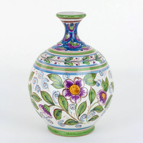 Vasetto Ornamentale in Ceramica siciliana Decorato a Mano