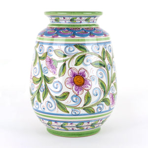 Vaso Ornamentale in Ceramica siciliana Decorato a Mano
