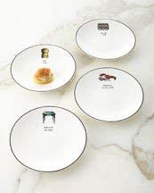 kate spade new york Concord Square Cause A Stir Tidbit Plates, Set of 4