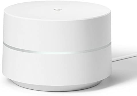 Google WiFi System, 1-Pack - Router Replacement for Whole Home Coverage - NLS-1304-25,white