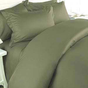 Elegance Linen 1500 Thread Count Queen Size Egyptian Quality 3pcs Duvet Cover, Solid Green