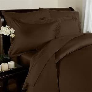 Elegant Comfort 3 Piece 1500 Thread Count Luxury Ultra Soft Egyptian Quality Coziest Duvet Cover Set, Full/Queen, Chocolate