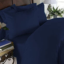Elegant Comfort Luxurious Wrinkle-Free & Fade Resistant Microfiber Duvet Cover Collection, Navy Blue, 3-Piece Set