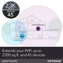 NETGEAR WiFi Mesh Range Extender EX7700 - Coverage up to 2300 sq.ft. and 45 Devices with AC2200 Tri-Band Wireless Signal Booster & Repeater (up to 2200Mbps Speed), Plus Mesh Smart Roaming