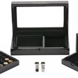 Exuvius Double Agent Magnetic Cufflink Collection with Transforming Accessory Box