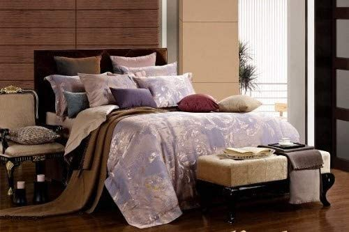 Dolce Mela DM475Q Jacquard Damask Luxury Bedding Duvet Covet Set