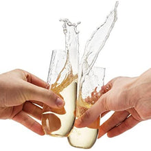 48 Pack Stemless Plastic Champagne Flutes Disposable 9 Oz Clear Plastic Toasting Glasses Shatterproof Recyclable and BPA-Free