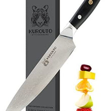 8-Inch VG10 Chef's Knife With 66 Layers of High Carbon Damascus Stainless Steel Clading- Razor Sharp -Kurouto Kitchenware