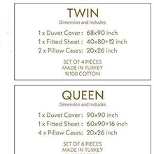 DHD Duvet Cover Set,% 100 Cotton, Hotel Luxury,4 pcs;1x Duvet Cover,1x Fitted Sheet,2X Pillowcases/Shams,Quilt Cover Set,(Twin