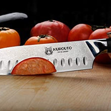 7-inch VG10 Santoku- 66 layers of High Carbon Damscus Stainless Steel Cladding—Kintaro Series—Kurouto Kitchenware
