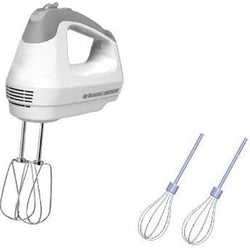 Black & Decker MX3000W 250-Watt Hand Mixer, White/Grey