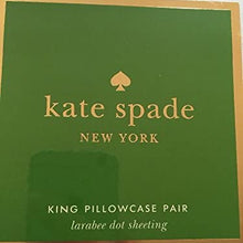Kate Spade New York King Pillowcase set White Larabee Dot Sheeting (2pc) NIP
