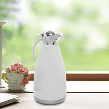 2.0L White Stainless Steel Double Wall Vacuum Insulated Thermal Carafe/Hot Coffee & Tea Serving Pitcher