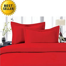 Elegant Comfort 1500 Thread Count Egyptian Quality Wrinkle and Fade Resistant 3-Piece Duvet Cover Set, Full/Queen, Red